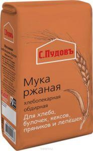 Мука ржаная С.Пудовъ 1 кг