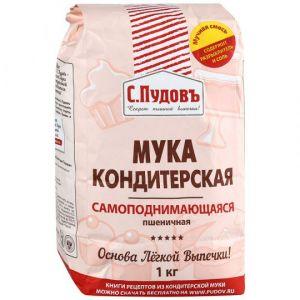 Мука пшеничная С.Пудовъ кондитерская самоподнимающаяся 1кг