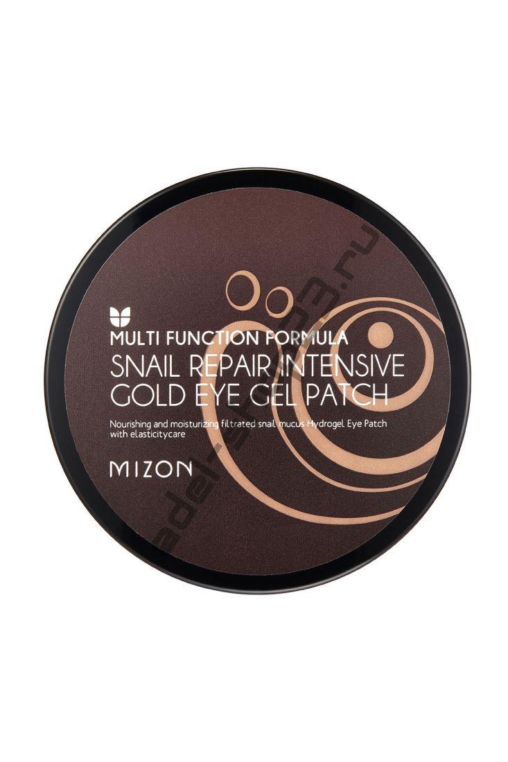 MIZON - Гидрогелевые патчи с улиточным муцином Repair Intensive Gold Eye Gel Patch