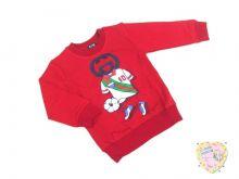 """Джемпер красный для мальчика """"Soccer 10"""" Турция (интерлок-пенье) код 0661-3 """"Мамин Малыш"""" оптом"""