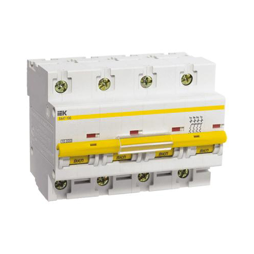 Автоматический выключатель ВА 47-100 4Р 40А 10кА х-ка D ИЭК