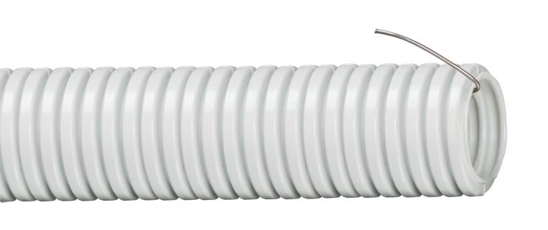 Труба гофрированная ПВХ d 40 с зондом (15 м) ИЭК