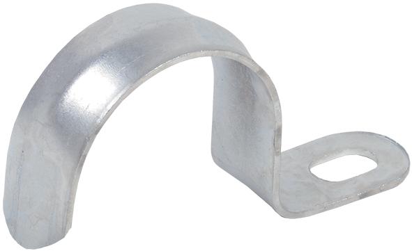 Скоба металлическая однолапковая d25-26мм