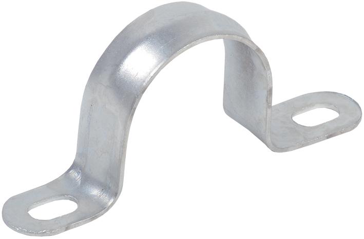 Скоба металлическая двухлапковая d16-17мм