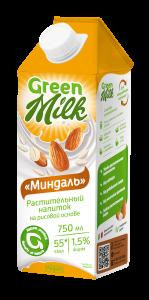 Süd Green Milk «Badam» düyü əsaslı bitki içkisi 750 ml