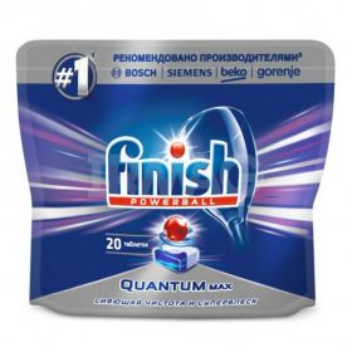 Qabyuyan maşın üçün tabletkalar Finish Quantum Max (20 əd.)