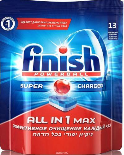 """Qabyuyan maşın üçün tabletkalar Finish """"All in 1 Max"""", 13 ədəd"""