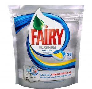Fairy Platinum qabyuyan maşın üçün kapsullar 36 ədəd