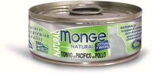 Monge Cat Natural консервы для кошек тихоокеанский тунец с курицей 80 гр.
