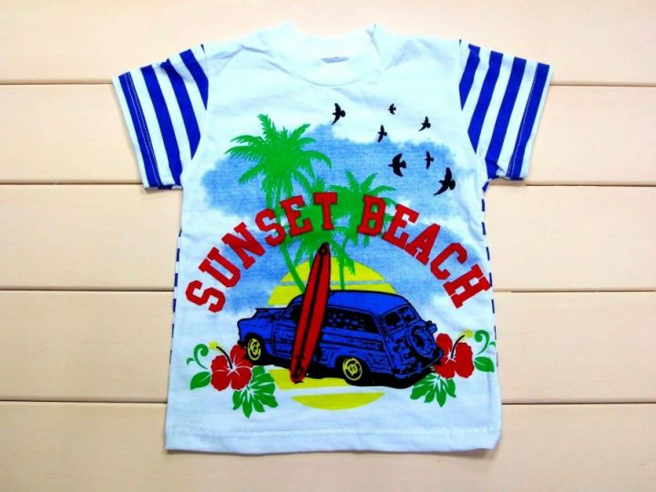 "Футболка ""sunset beach"" A-FT125-SUk(pl) (супрем)"