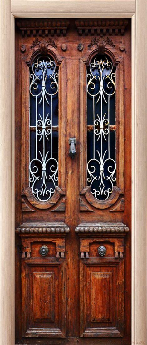 Наклейка на дверь - Без стука не открывать