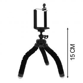 Мини-штатив на шарнирах гибкий  + держатель для смартфона