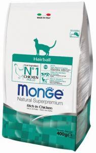 Monge Cat Hairball корм для кошек для выведения шерсти  400г