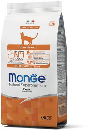 Monge Cat Monoprotein Sterilised Duck корм для стерилизованных кошек с уткой