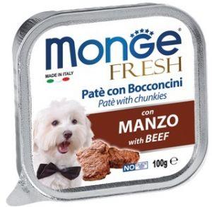 Monge Dog Fresh консервы для собак говядина 100г