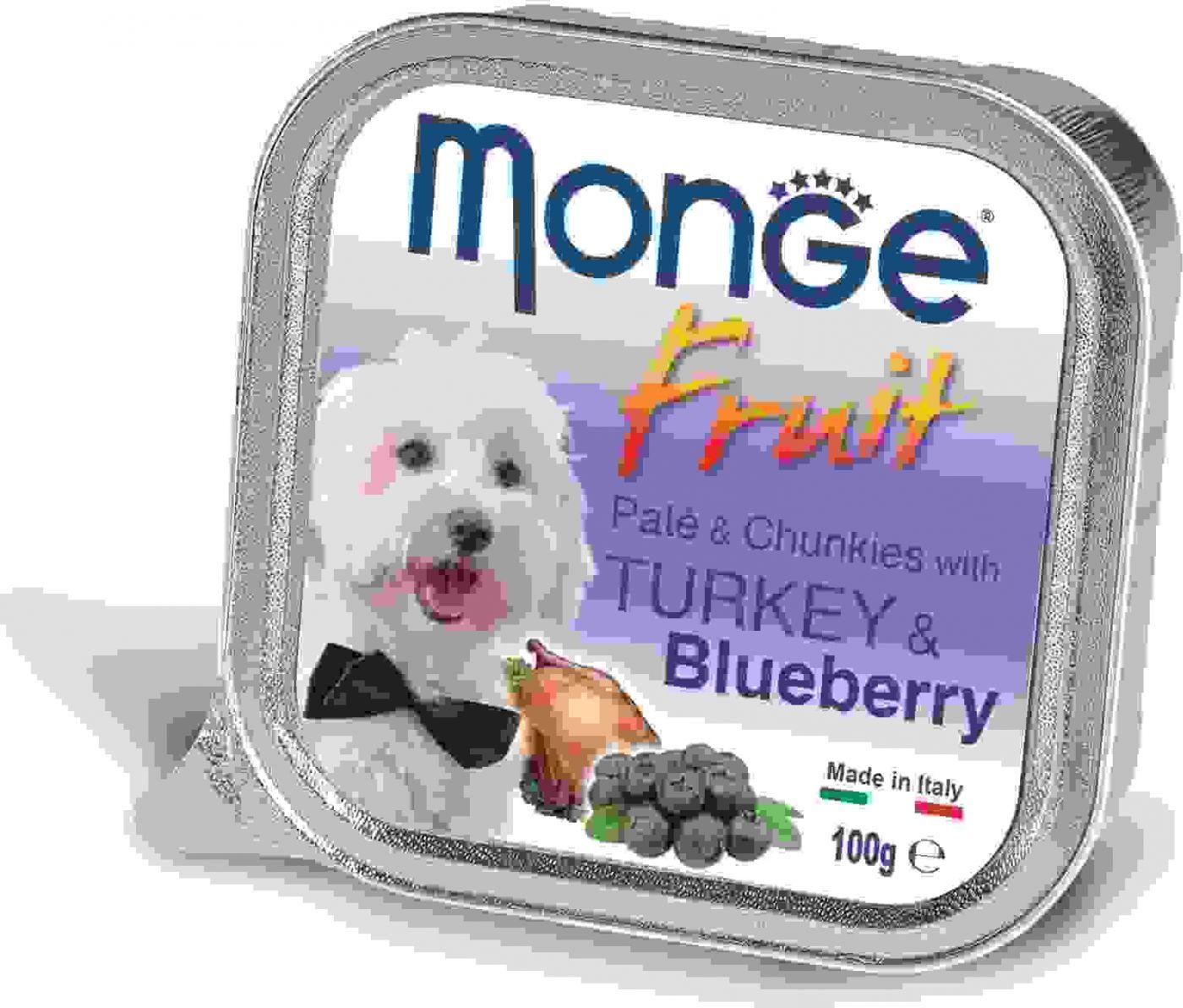 Monge Dog Fruit консервы для собак индейка с черникой 100 гр.