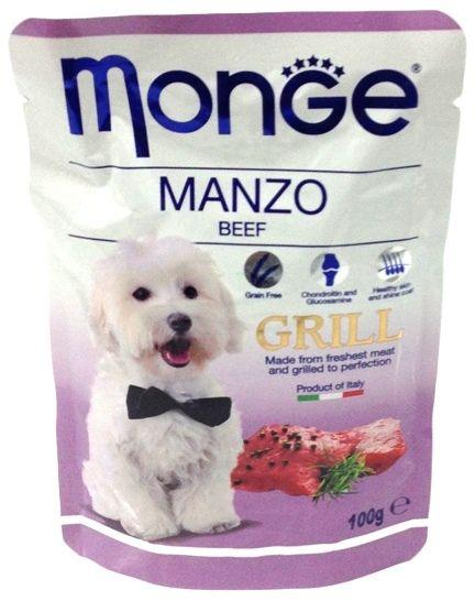 Monge Dog Grill Pouch паучи для собак говядина 100 гр.