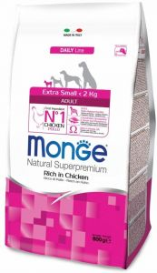 Monge Dog Extra Small корм для взрослых собак миниатюрных пород с курицей