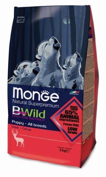 Monge Bwild Dog Deer корм для щенков всех пород с олениной 2 кг.