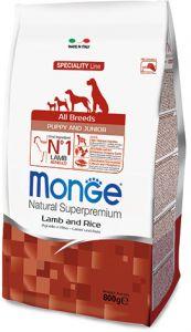 Monge Dog Speciality Puppy&Junior корм для щенков всех пород ягненок с рисом 800 гр.
