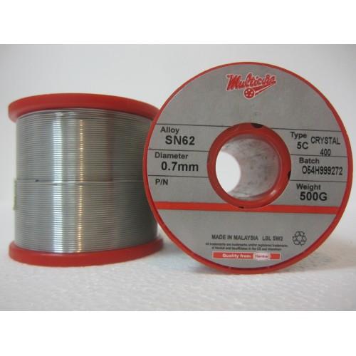 Припой Multicore Crystal 400 SN62 Pb36 Ag2 диаметр 1.0 мм