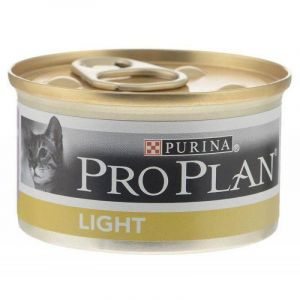 Консервы Pro Plan Light кусочки в подливе для взрослых кошек с избыточным весом с индейкой 85 гр