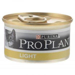Консервы Pro Plan Light кусочки в подливе для взрослых кошек с избыточным весом с индейкой 85 гр.