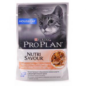Консервы Pro Plan пауч кусочки в соусе для взрослых домашних кошек с лососем 85 гр.