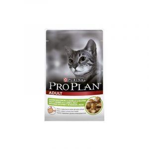 Консервы Pro Plan пауч кусочки в желе для взрослых кошек с ягненком 85 гр.