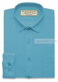 "Рубашки для мальчиков оптом ""Царевич"" (6-14 лет.). 10 шт. Артикул: Blue Aster slim"