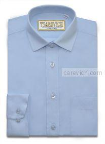 """Рубашки для мальчиков опт. """"Царевич"""" (6-14 лет.). 10 шт. Арт.: Dream Blue Slim"""
