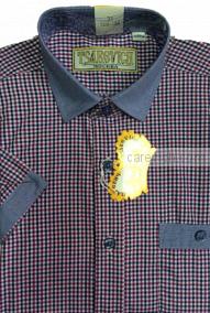 """Детская рубашка школьная,    """"ЦАРЕВИЧ"""", оптом 10 шт., артикул: Graf30CL-0812-42-k"""