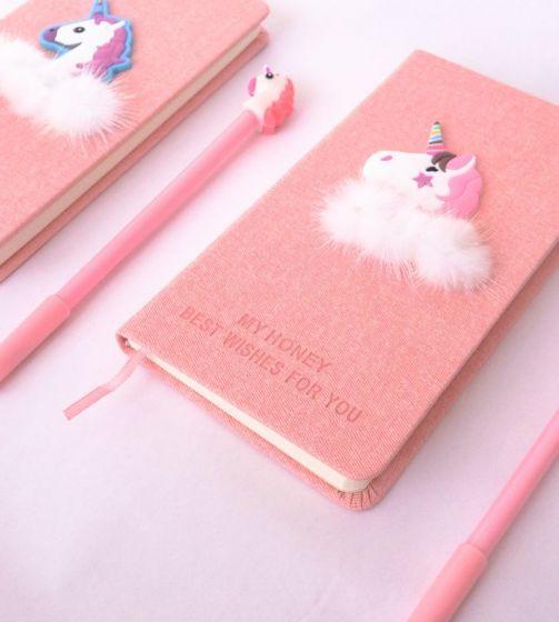 Подарочный набор: скетчбук с ручкой «Единорожик»