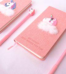 Подарочный набор: блокнот с ручкой «Единорожик»