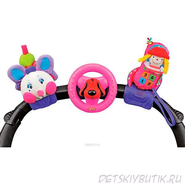 Набор развивающих игрушек для коляски: гусеничка, руль, телефон