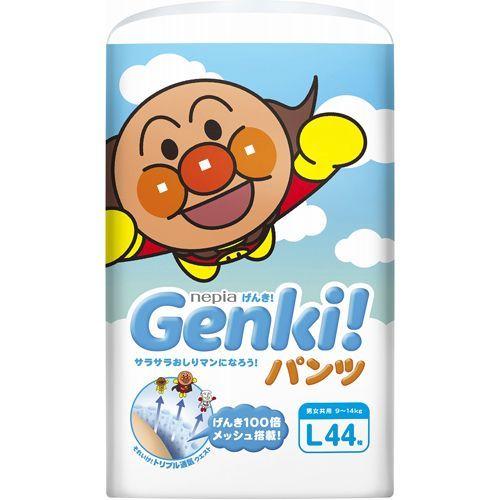 Nepia Genki L подгузники-трусики (9-14  кг ), 44 шт.