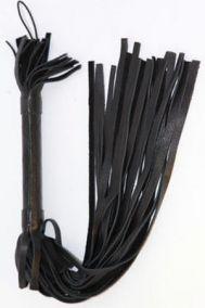 Плеть кожаная BDSM Арсенал черная, 51 см