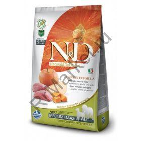 N&D Dog GF Pumpkin Boar & Apple Adult Medium & Maxi-Кабан, тыква, яблоко. Полнорационное питание для взрослых собак.