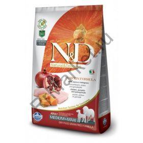 N&D Dog GF Pumpkin Chicken & Pomegranate Adult Medium & Maxi-Курица, тыква, гранат. Полнорационное питание для собак.