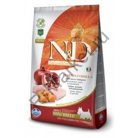 N&D Dog GF Pumpkin Chicken & Pomegranate Adult Mini-Курица, тыква, гранат. Полнорационное питание для собак.