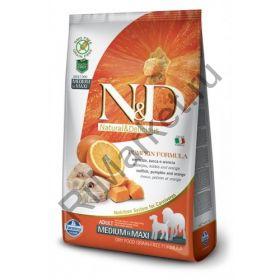 N&D Dog GF Pumpkin Codfish & Orange Adult Medium & Maxi-Треска, тыква, апельсин. Полнорационное питание для собак