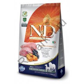 N&D Dog GF Pumpkin Lamb & Blueberry Adult Medium & Maxi-Ягненок, тыква, черника. Полнорационное питание для собак.