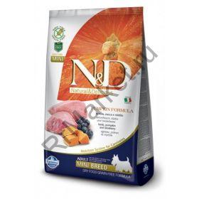 N&D Dog GF Pumpkin Lamb & Blueberry Adult Mini-Ягненок, тыква, черника. Полнорационное питание для собак.