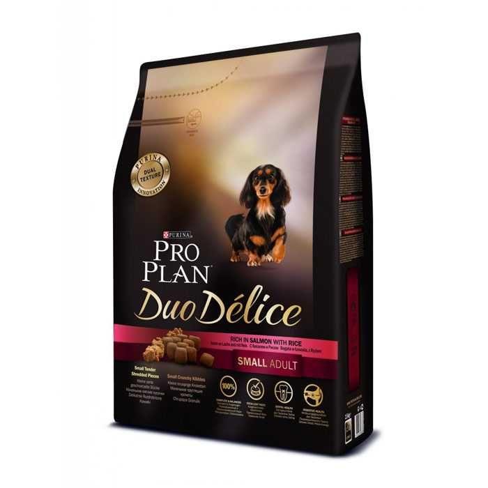 Корм сухой Pro Plan Duo Delice Small Adult Beef для взрослых собак мелких пород с говядиной и рисом