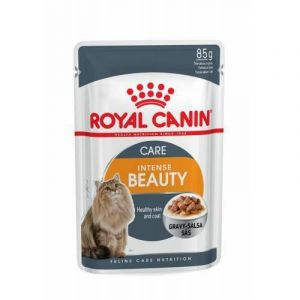 Консервы Royal Canin Intense Beauty Care пауч мелкие кусочки в соусе для кошек 85 кг.