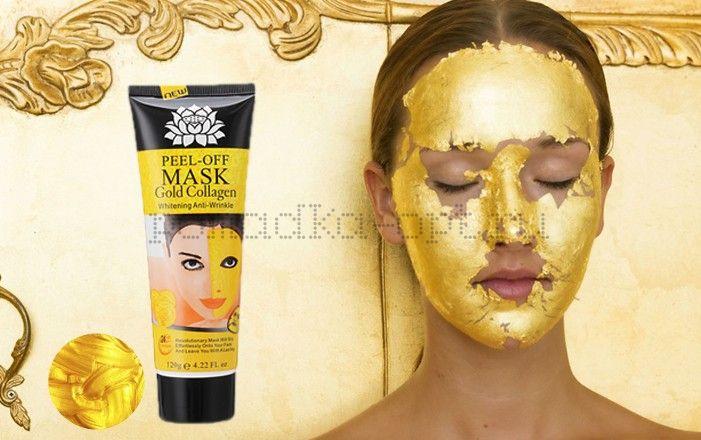 Маска-пленка для кожи лица Y W F Peel-off mask Gold Collagen Whitening Anti-Wrinkle - отзывы