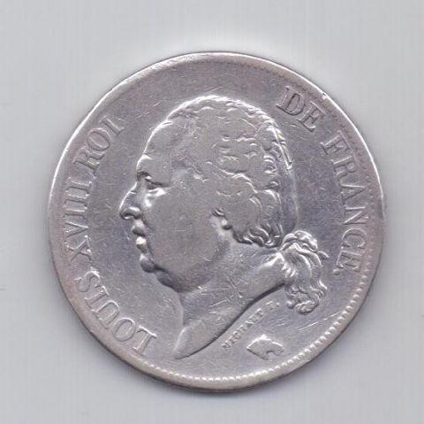 5 франков 1822 года Франция