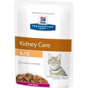 Hill's Prescription Diet Feline k/d Beef 85 гр.