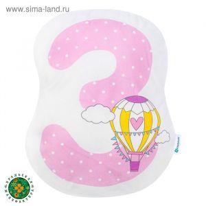 """Подушка """"Крошка Я"""" 3, 41х34 см, розовый, велюр, 100% п/э    4125432"""