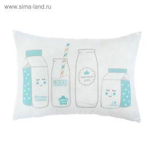"Подушка ""Крошка Я"" Молочко, 30х47 см, 100% хлопок, синтепон   3617358"